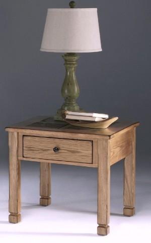 Rustic Ridge Elm Square Lamp Table