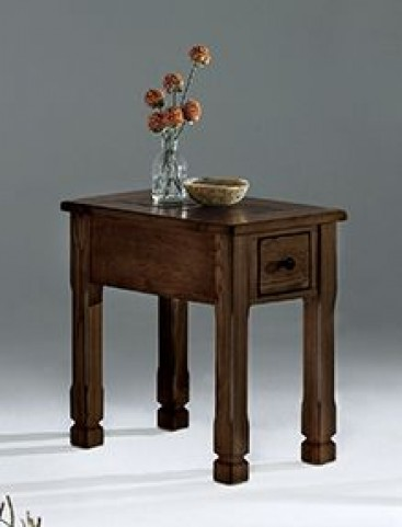 Rustic Ridge ll Dark Birch Chairside Table