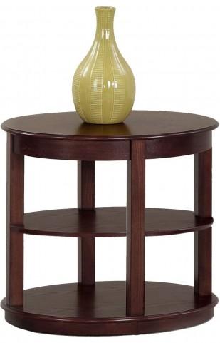 Sebring Medium Ash Oval End Table