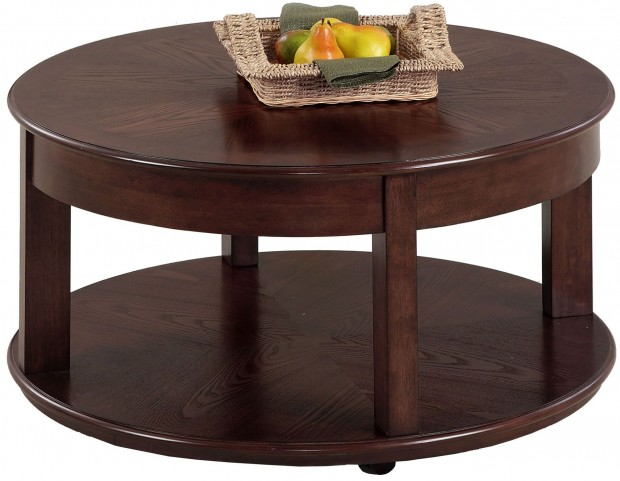 Sebring Medium Ash Round Cocktail Table