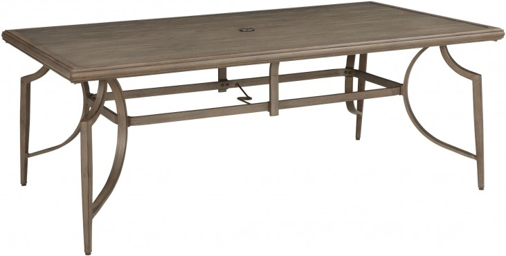 Partanna Blue and Beige Outdoor Rectangular Dining Table