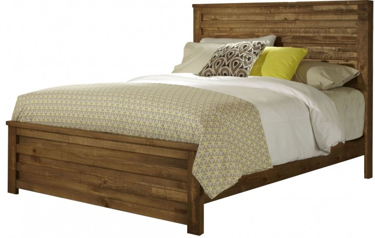 Melrose Driftwood King Panel Bed