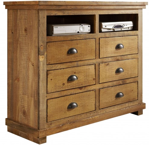 Willow Distressed Pine Media Chest
