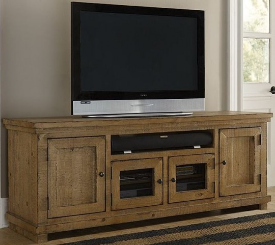 """Willow Distressed Pine 74"""" Console"""