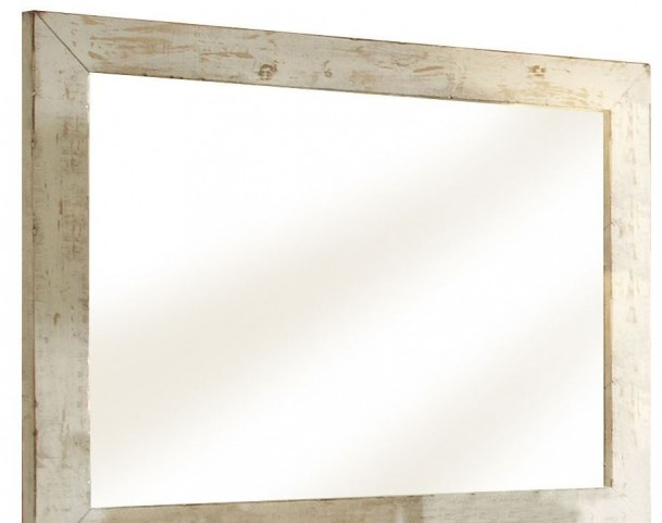 Willow Distressed White Mirror