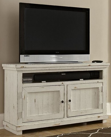 """Willow Distressed White 54"""" Console"""