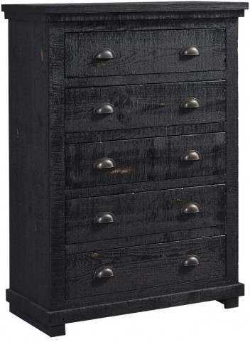 Willow Distressed Black Chest