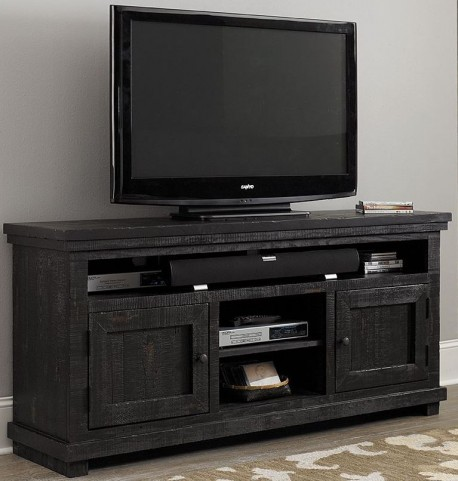 "Willow Distressed Black 64"" Console"