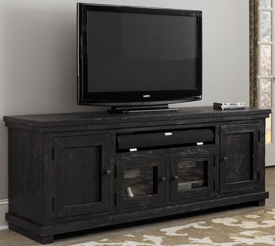"Willow Distressed Black 74"" Console"