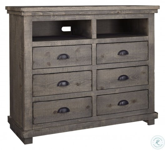 Willow Weathered Gray Media Chest
