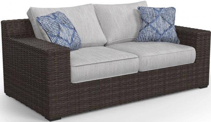 Incredible Alta Grande Beige Outdoor Loveseat Short Links Chair Design For Home Short Linksinfo