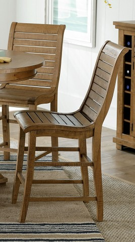 Willow Distressed Pine Counter Chair Set of 2