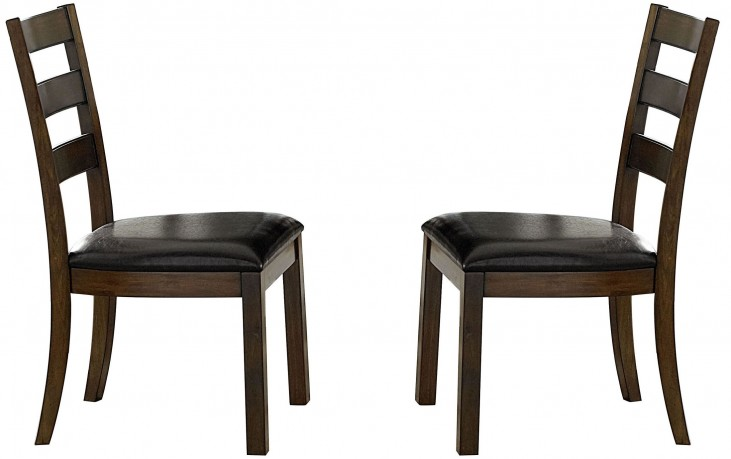 Cascade Nutmeg and Cement Wood Dining Chair Set of 2