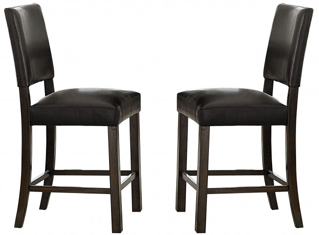 Cascade Nutmeg and Cement Upholstered Counter Chair Set of 2