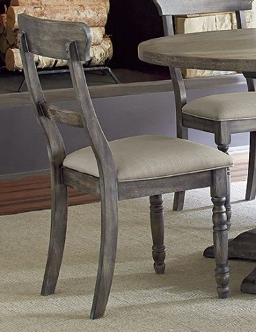 Muses Dove Grey Ladderback Chair Set of 2