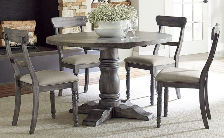 Muses Dove Grey Muses Round Dining Table
