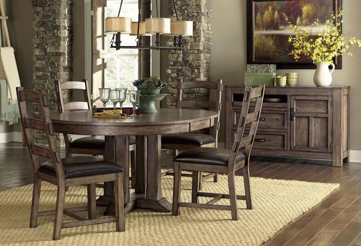 Boulder Creek Pecan Veneer Dining Room Set