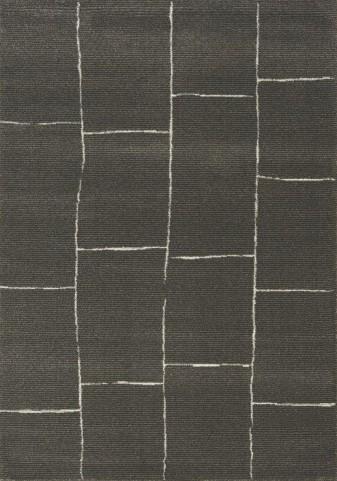 Palace Black/White Brick Large Rug