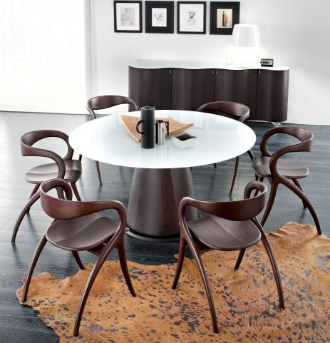 Palio Wenge Round Dining Room Set With Star Chairs