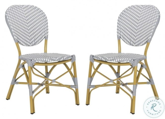 Lisbeth Gray And White French Bistro Side Chair Set Of 2 From Safavieh Coleman Furniture