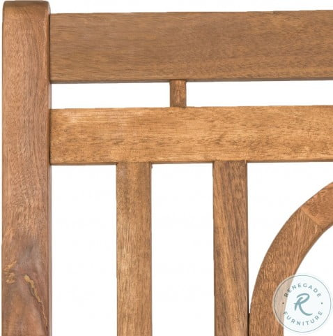 Montclair Natural And Beige 3 Seat Outdoor Bench