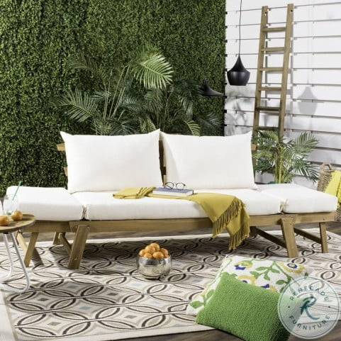Tandra Natural and Beige Modern Contemporary Outdoor Daybed