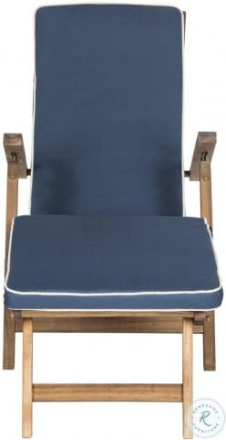Palmdale Natural And Navy Outdoor Lounge Chair