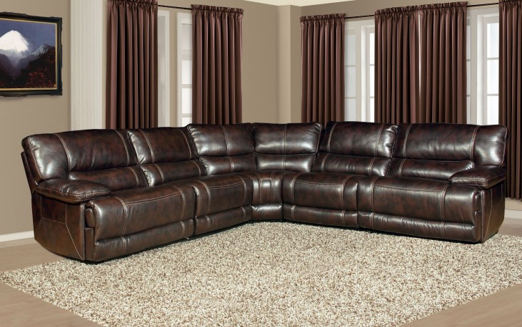 Pegasus Nutmeg Power Reclining Sectional