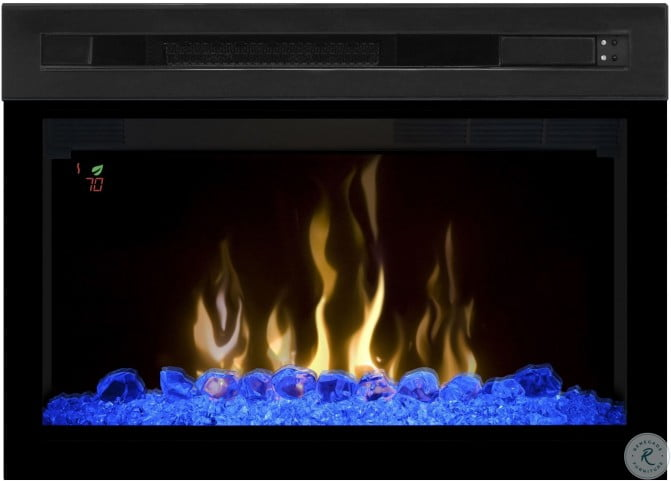 Stupendous 25 Multi Fire Xd Black Curved Front Electric Fireplace With Acrylic Ice Home Interior And Landscaping Sapresignezvosmurscom