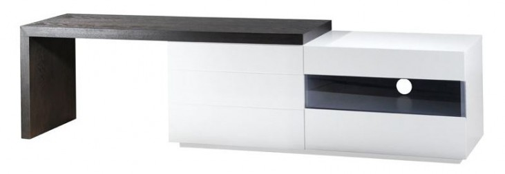 Phantom White Gloss Lacquer TV Stand