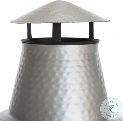 Cartagena Silver And Black Outdoor Chiminea