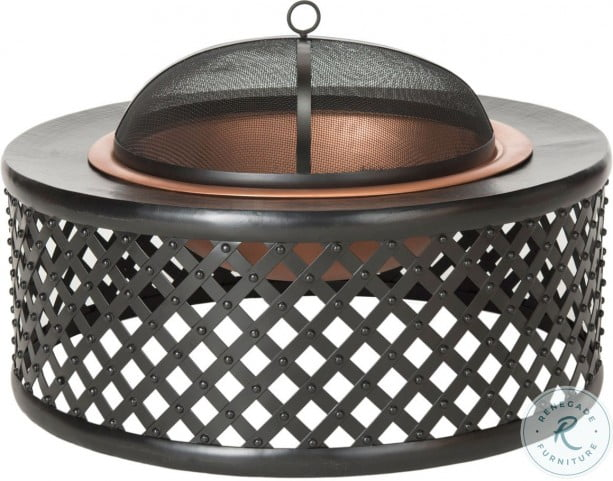 Jamaica Copper And Black Outdoor Fire Pit