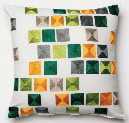Pixel Multi-Color Square Pillow