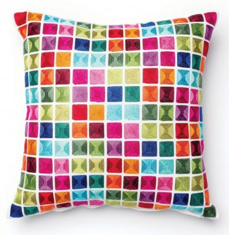 Pixie Multi-Color Square Pillow