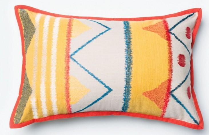 Allison II Yellow and Multi-Color Rectangular Pillow