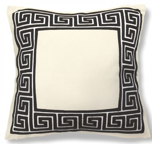 "Sade Black Fret 20"" X 20"" Pillow Set of 8"