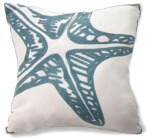 "Straf Starfish 18"" Pillow Set of 6"