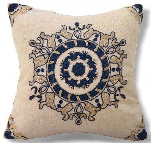 "Flo Blue 18"" Pillow Set of 8"