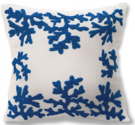 "Coralie Blue 18"" Pillow Set of 8"