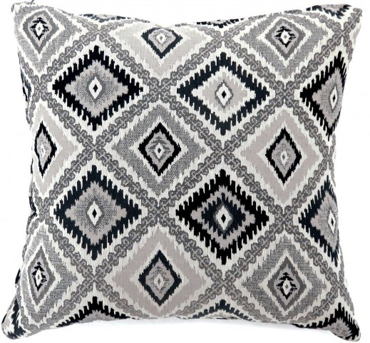 "Deamund Black 18"" Pillow Set of 2"