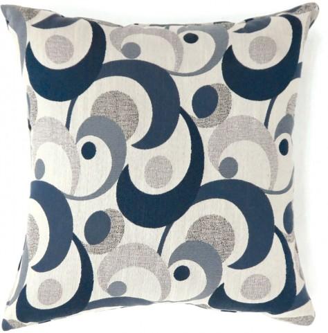 "Swoosh Blue 18"" Pillow Set of 2"
