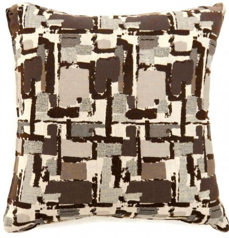 "Concrit Brown 18"" Pillow Set of 2"