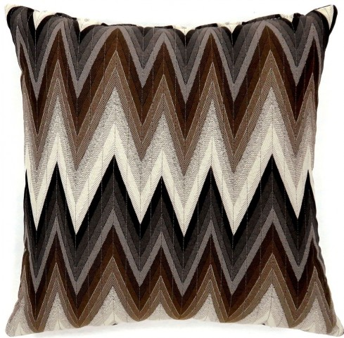 "Ziggs Brown 18"" Pillow Set of 2"