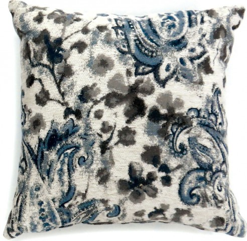 "Ria Gray And Blue 22"" Pillow Set of 2"