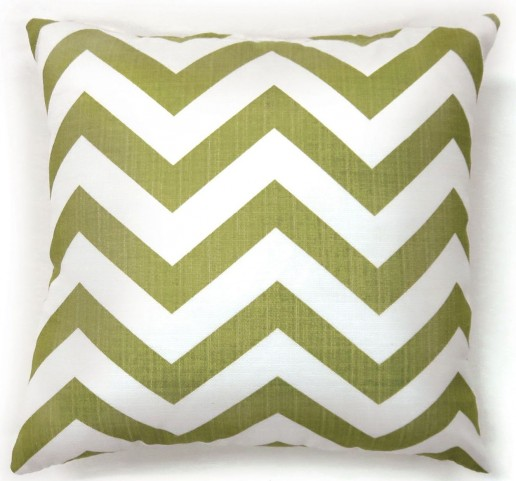 "Zoe Green Chevron 18"" Pillow Set of 2"