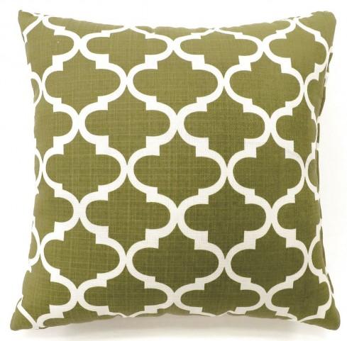 """Xia Green Quatrefoil 18"""" Pillow Set of 2"""