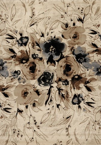 Platinum Brown/Grey Rose Medium Rug