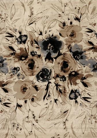 Platinum Brown/Grey Rose Large Rug