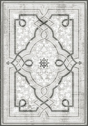 Platinum Grey Knot Large Rug