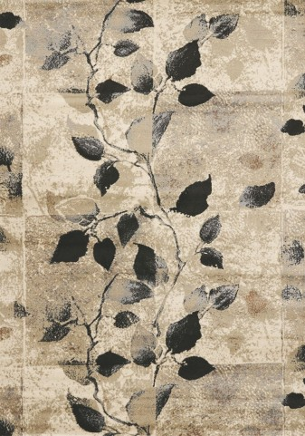 Platinum Traditional Vines Small Rug